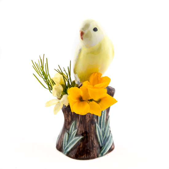 Budgerigar Bud Vase Yellow