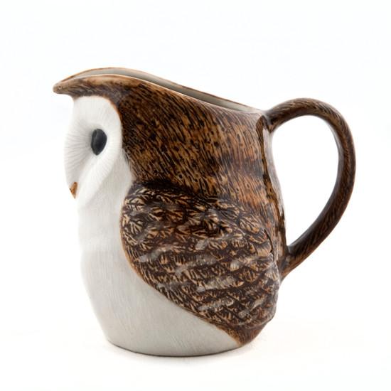 """Barn Owl Jug 3.5"""""""