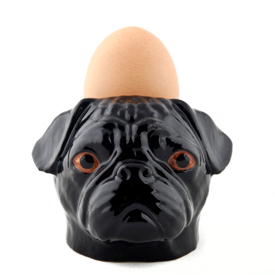 Pug Face Egg Cup Black