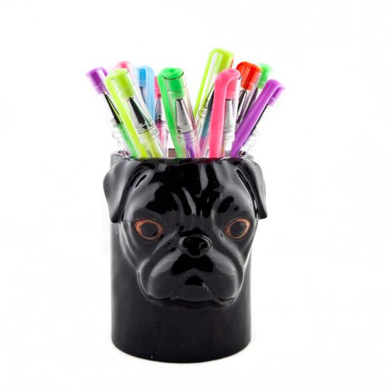 Pug Pen Pot Black