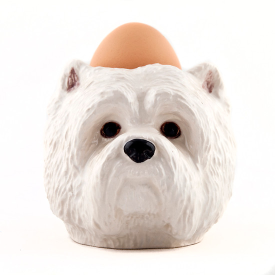 Westie Face Egg Cup