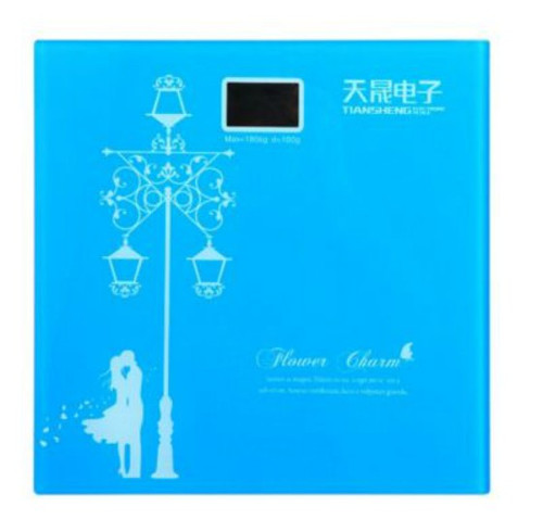 Light Blue Digital Bathroom Weighing Scale