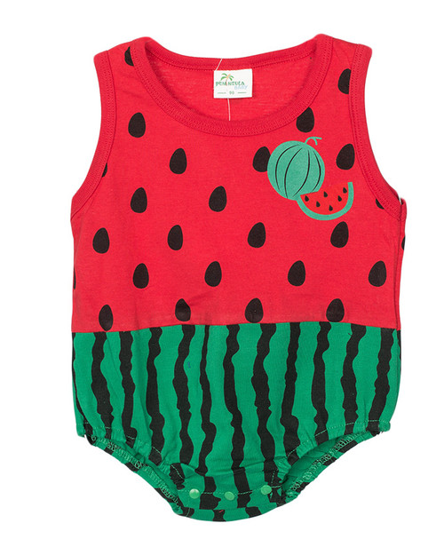 Cute Cotton Vest Rompers for you baby - Red & Green