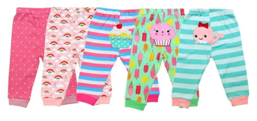 Carters 5 Pack Assorted Cotton Baby Girl Pants