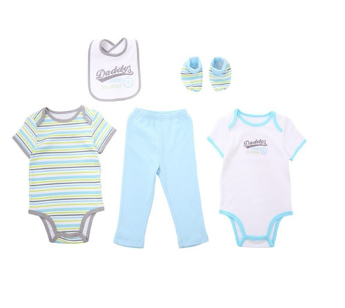 Boys Short Sleeved Tops & Pants 5 Piece Set - Daddy's Little Star