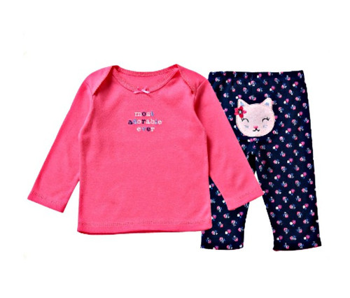 Cotton Baby Girl 2 Piece Clothes Set - Most Adorable Ever