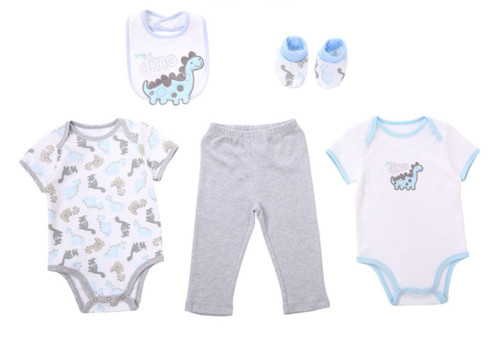 Boys Short Sleeved Tops & Pants 5 Piece Set - My Dino