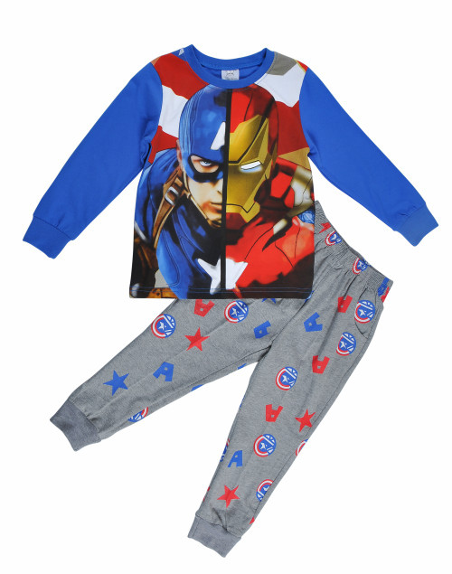 Boys Set - Grey-Blue Long Sleeved Pajamas