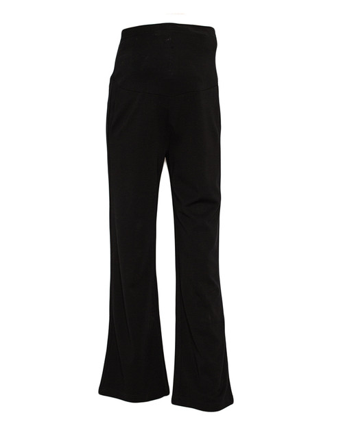Black Office Maternity / Pregnancy Straight Leg Pants