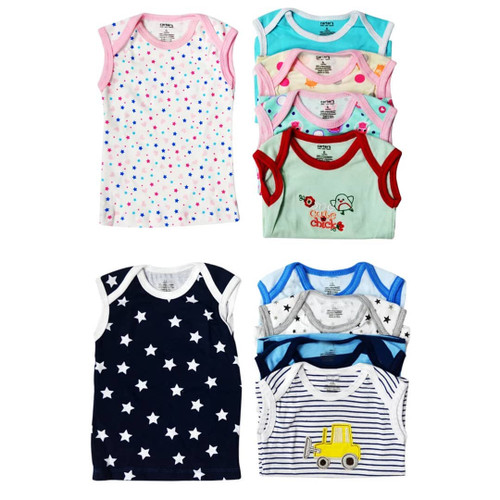 Carter's 5 Pack Assorted Cotton  Vests - Mixed Colours
