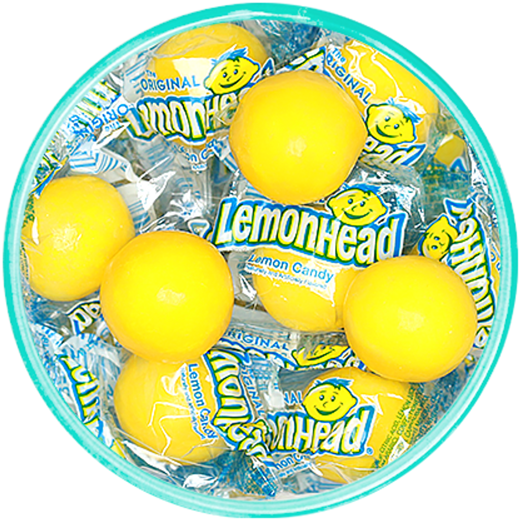 Lemonhead Wrapped Candies - Detailed View
