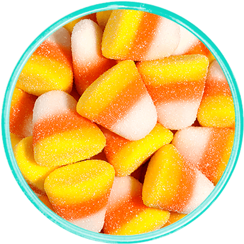 Candy Corn Gummi Drops - Detailed View
