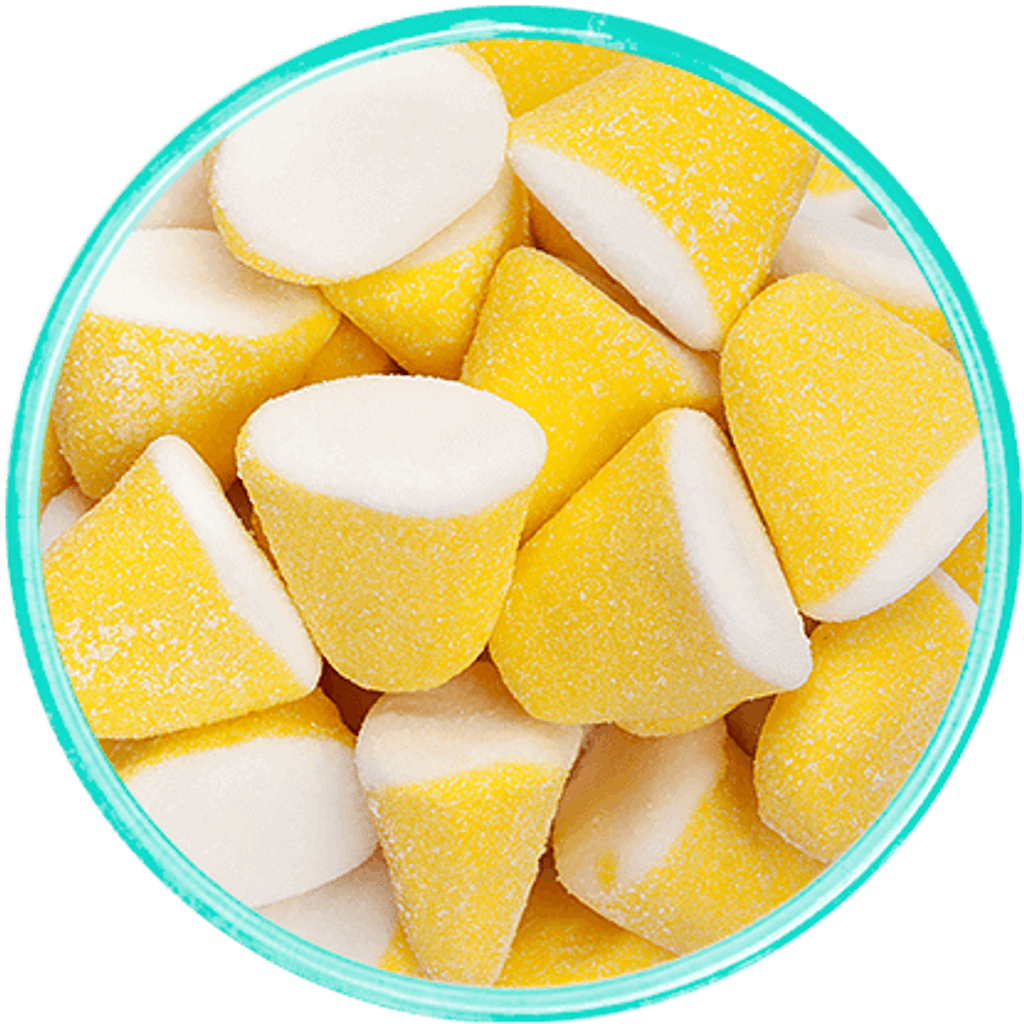 Lemon Marshmallow Drops - Detailed View
