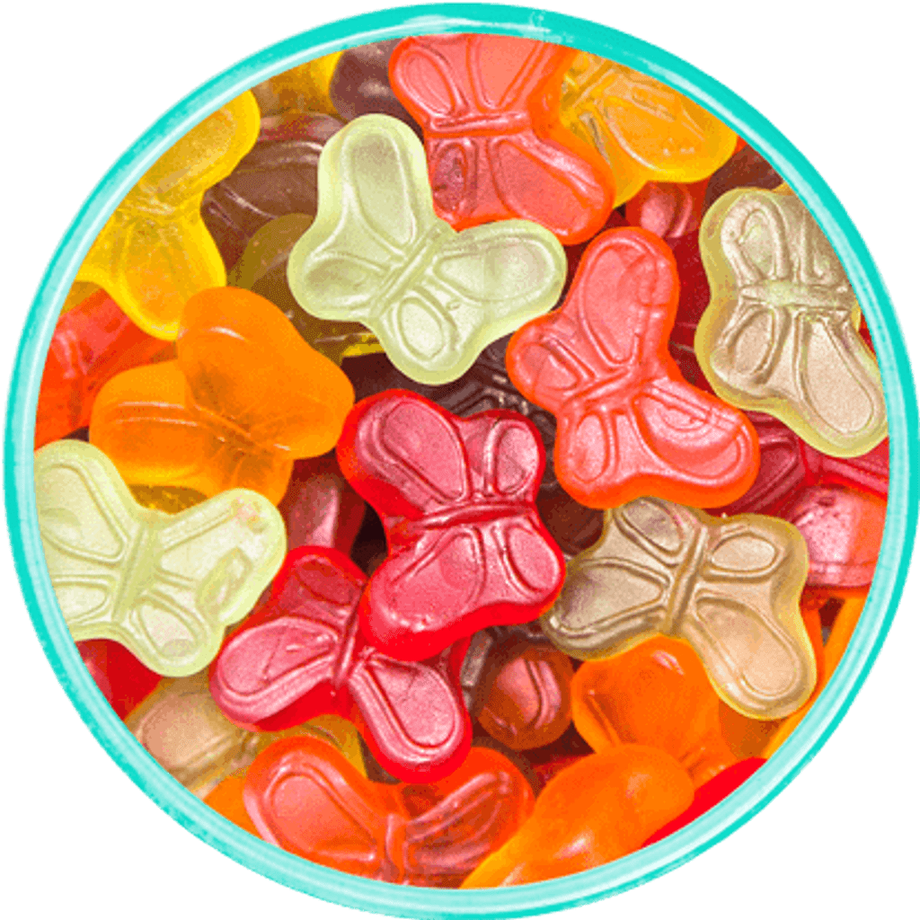 Mini Gummi Butterflies - Detailed View