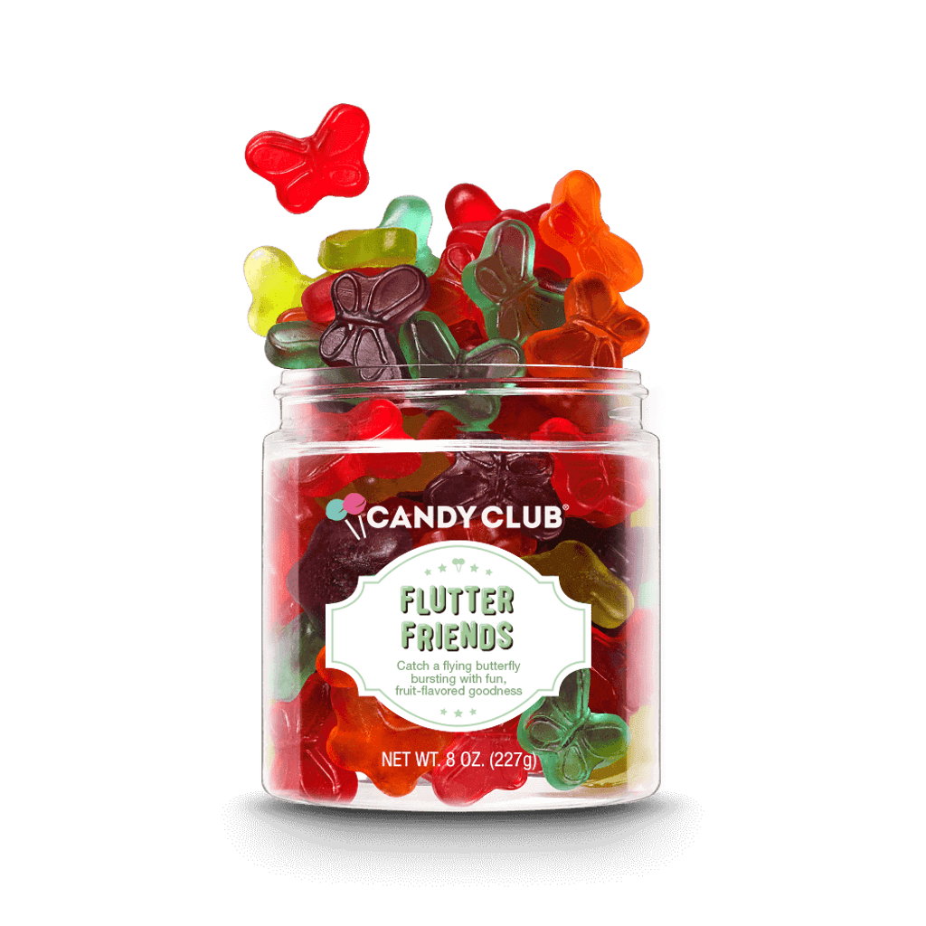 A cup of Flutter Friends candy