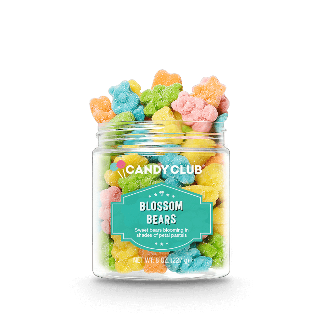 A cup of Blossom Bears candy