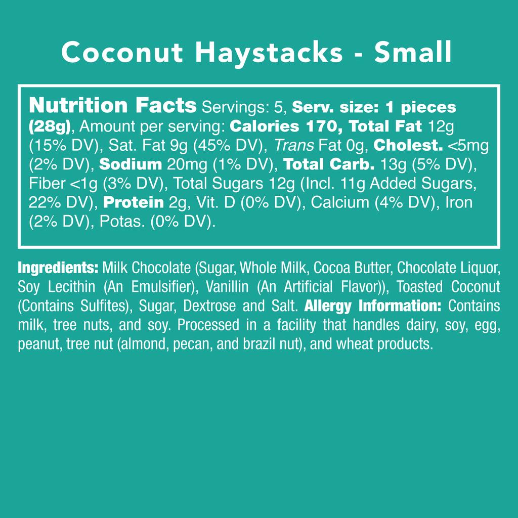 Coconut Haystacks Nutrition Facts