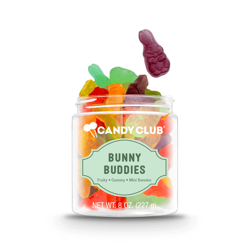 A cup of Bunny Buddies candy
