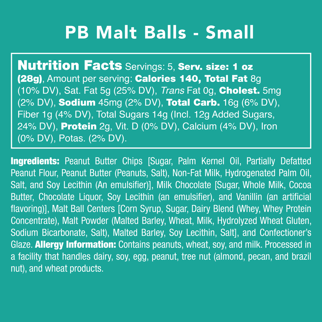 PB Malt Balls nutrition facts