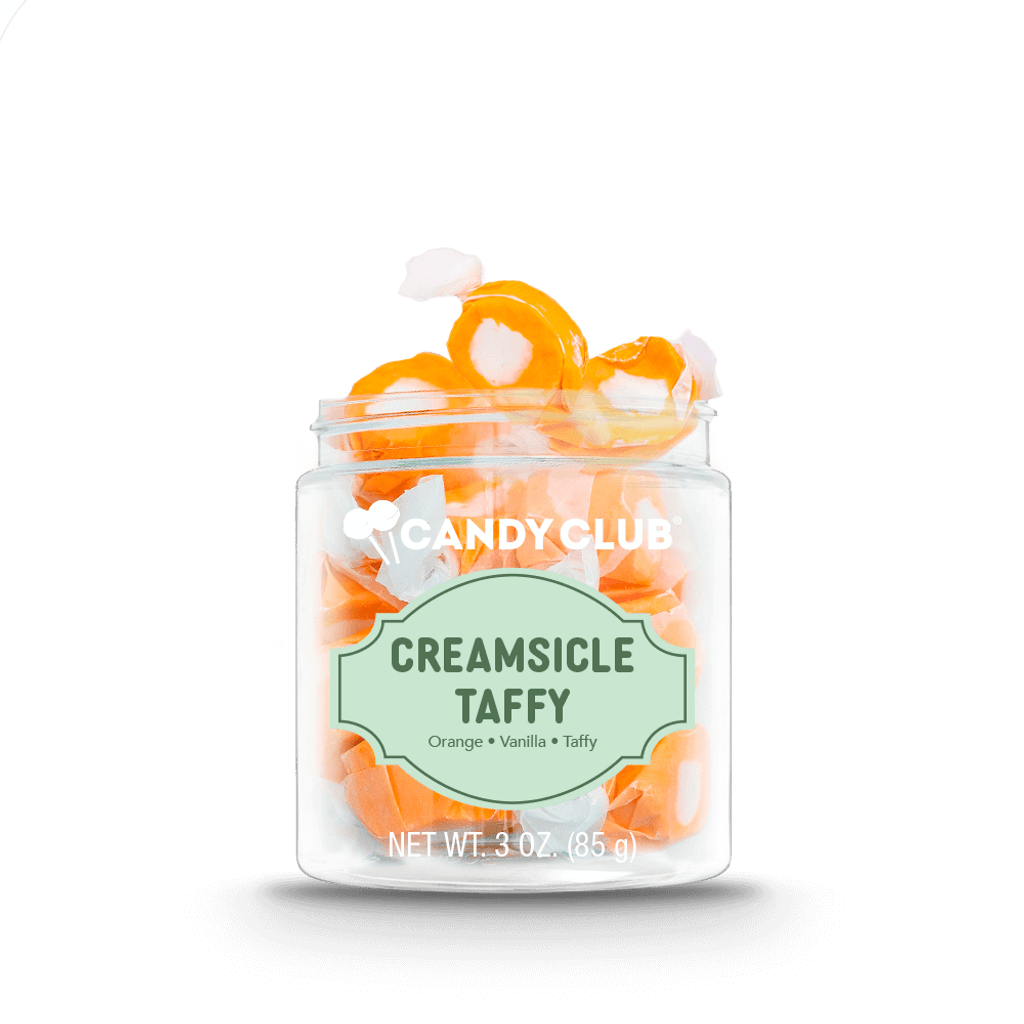 A cup of Creamsicle Taffy candy
