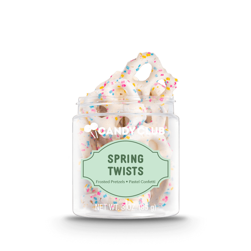 A cup of Spring Twists candy