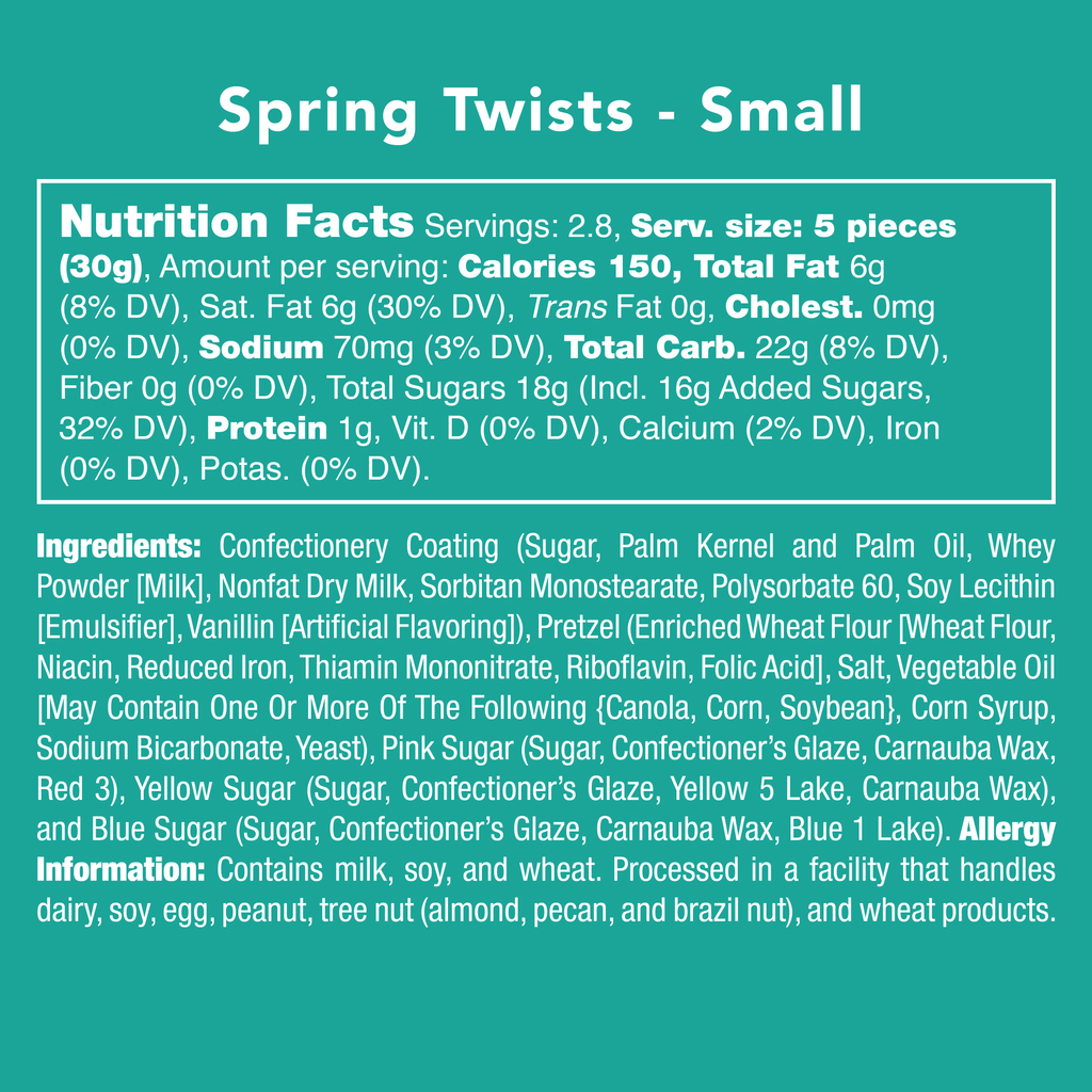 Spring Twists nutrition facts