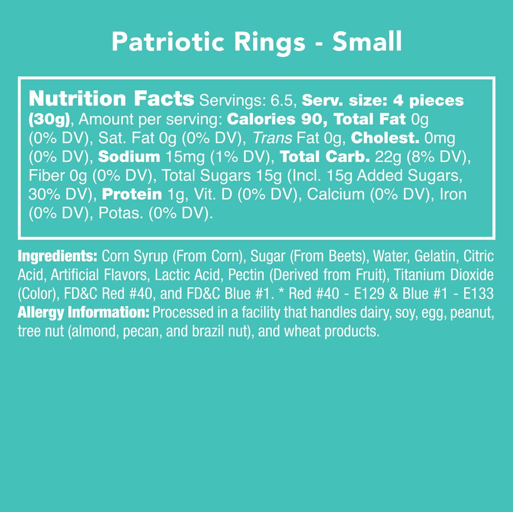 Patriotic Rings - Nutritional Information