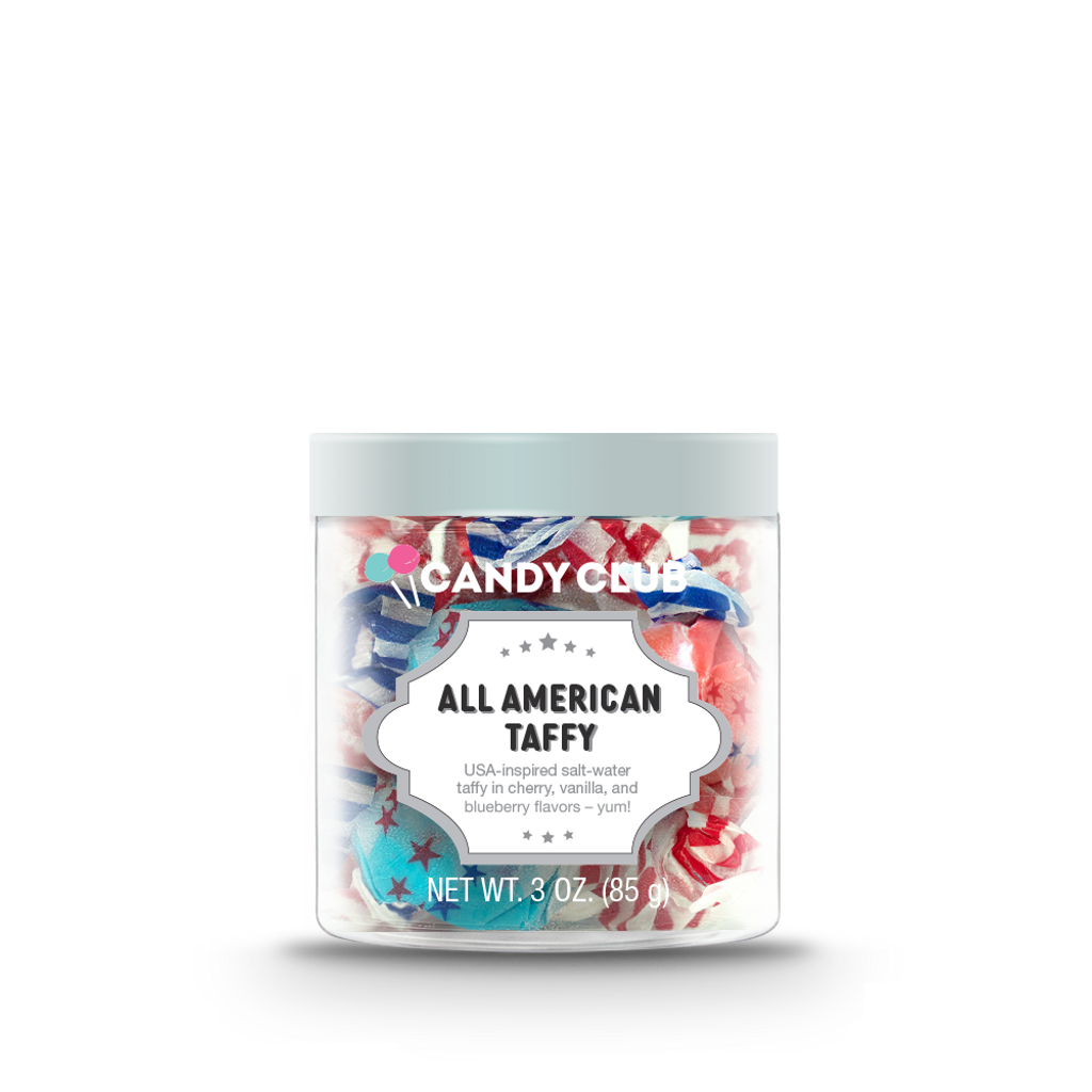 All American Taffy with Silver Lid - Candy Club