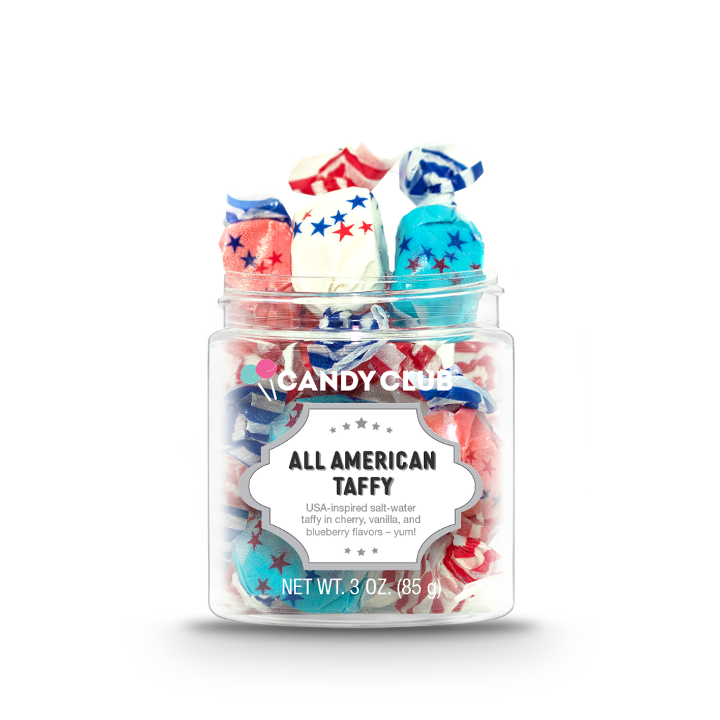 A cup of All American Taffy candy
