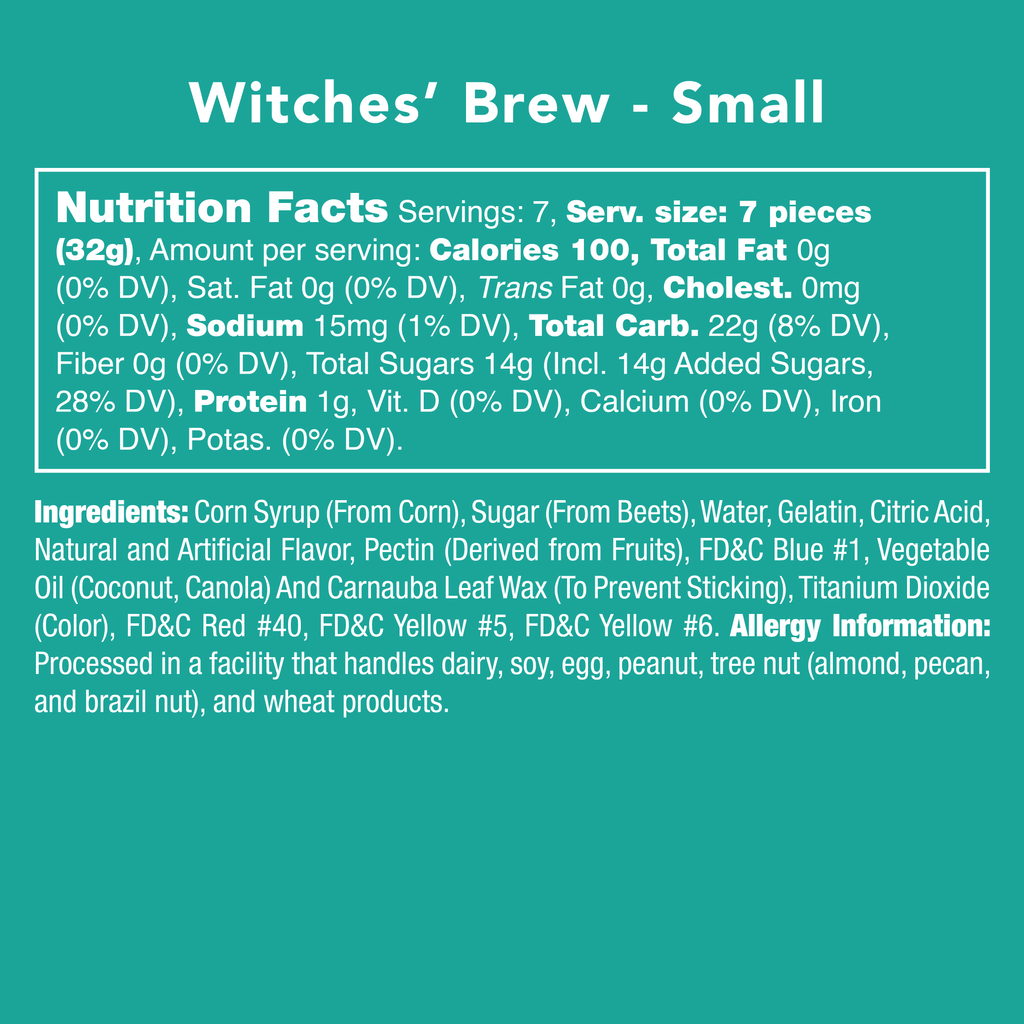 Witches' Brew - Nutritional Information