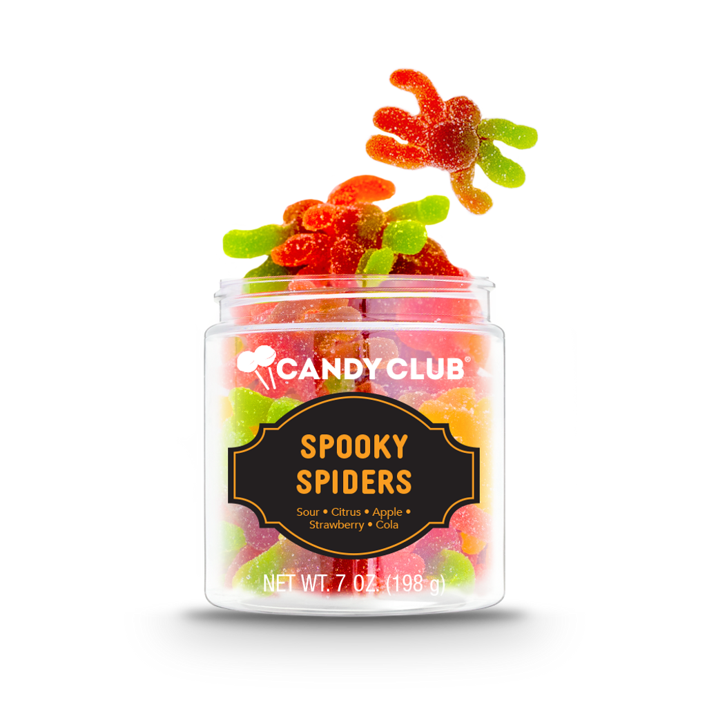 A cup of Spooky Spiders candy