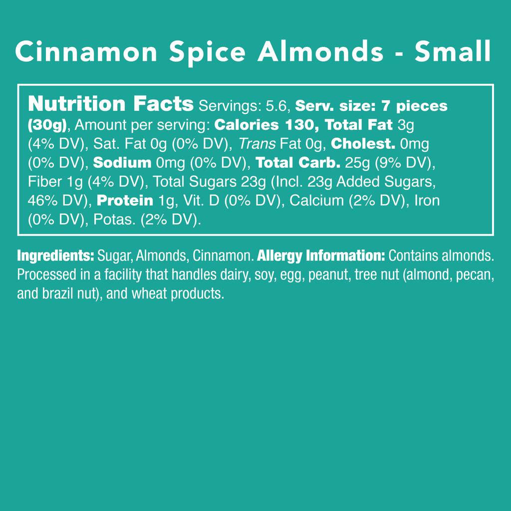 Cinnamon Spice Almonds - Nutritional Information