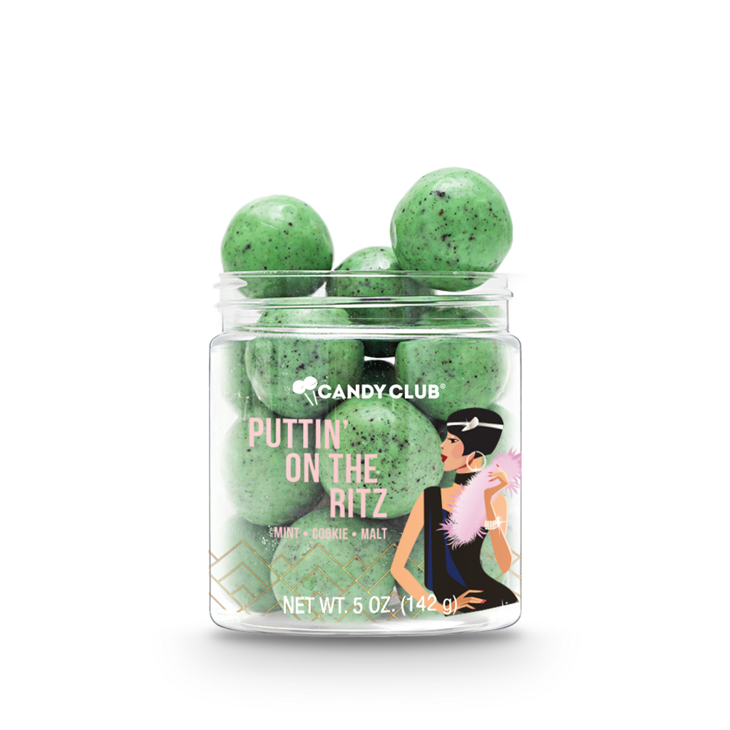 A cup of Puttin' on the Ritz candy