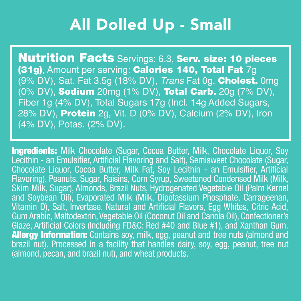 All Dolled Up - Nutritional Information