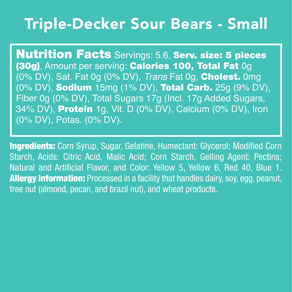 Triple-Decker Sour Bears