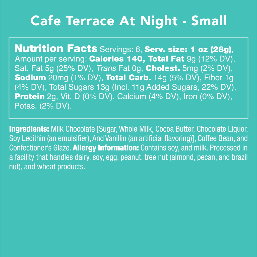 Cafe Terrace at Night - Nutritional Information