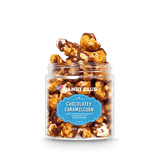A cup of Chocolatey Caramelcorn candy
