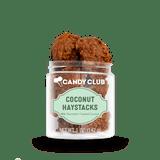 A cup of Coconut Haystacks candy
