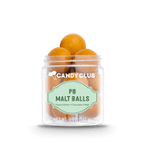 A cup of PB Malt Balls candy