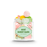 A cup of Mint Bunny Bark candy