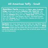 All American Taffy - Nutritional Information