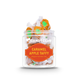 A cup of Caramel Apple Taffy candy