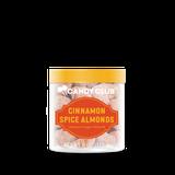 Cinnamon Spice Almonds with orange lid