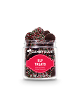 A cup of Elf Treats candy