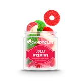 A cup of Jolly Wreaths candy