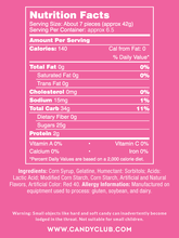 Strawberry Marshmallow Drops - Nutritional Information