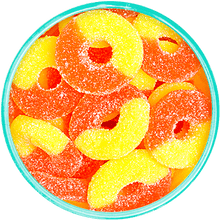 Gummi Peach Rings - Detailed View