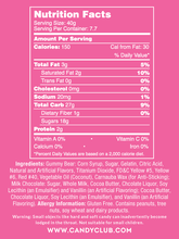 Milk Chocolate Gummi Bears - Nutritional Information