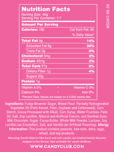 Fudge Brownie Bites - Nutritional Information