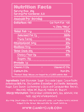 Dark Chocolate Holiday Nonpareils - Nutritional Information